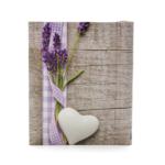 Kép 1/3 - Zseb fotóalbum levendulával, fehér szívvel