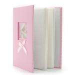 Kép 3/3 - Rózsaszín-fehér pöttyös bébi fotóalbum
