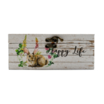 Kép 3/4 - Nyuszis - tavaszi virágos ládikó, kicsi
