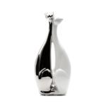 Kép 1/3 - Fehér ezüst összebújó cicapáros