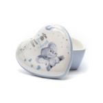 Kép 3/3 - Szív lakú kerámia doboz az első kisfiú fogaknak