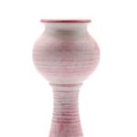 Kép 3/4 - Antikolt rózsaszín kerámia gyertyatartó