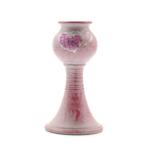 Kép 2/4 - Antikolt rózsaszín kerámia gyertyatartó