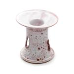 Kép 1/3 - Fehér-lila törökös stílusú aromalámpa levehető tányérral