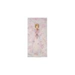 Kép 1/2 - Kicsi selyemkép rózsaszín tónusban, cseresznyevirágokkal és tündérrel