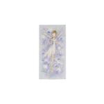 Kép 1/2 - Kicsi selyemkép tündérrel, fehér virágokkal a háttérben