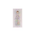 Kép 1/2 - Kicsi selyemkép kék virágmezőn táncoló tündérrel