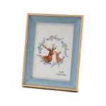 Kép 2/3 - Kék szegélyes fa asztali képkeret, közepes