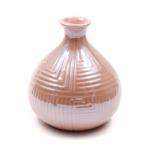 Kép 2/2 - Rózsaszín gyöngyházfényű váza