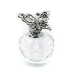 Kép 1/4 - Csillogó kövekkel díszített fém pillangó fejes apró parfümös üveg