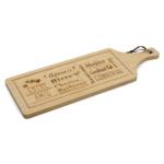 Kép 1/2 - Kínáló és szeletelő bambusz deszka soknyelvű feliratokkal