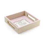 Kép 2/2 - Rózsaszín pöttyös kis tálca