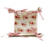 Kép 2/2 - Rózsás textil kenyérkosár