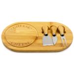 Kép 1/2 - Sajttálaló deszka 3 darabos sajtvágó eszközökkel