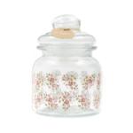 Kép 1/3 - Légmentesen zárható üveg konyhai tároló rózsákkal