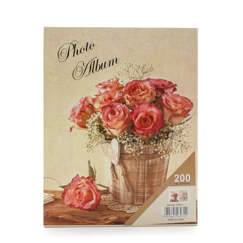 Rózsás fotóalbum dobozban