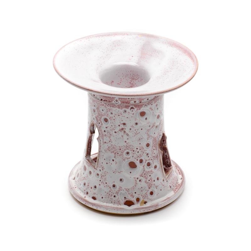 Fehér-lila törökös stílusú aromalámpa levehető tányérral