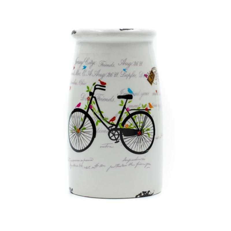 Biciklis kerámia fogkefe tartó