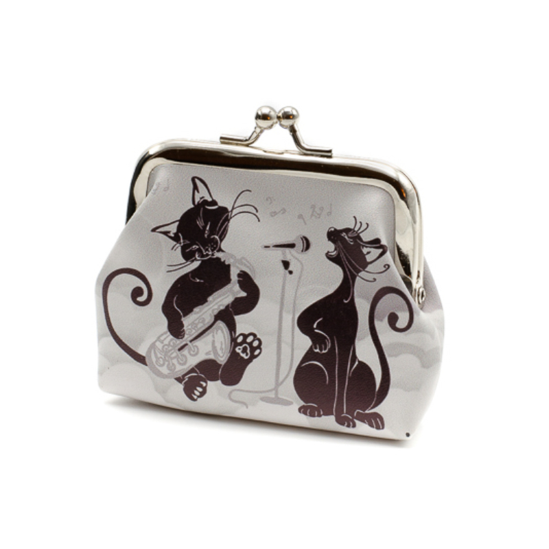Mini pénztárca zenélő Carmani cicákkal