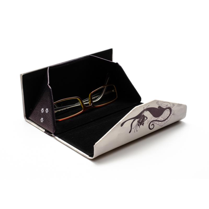 Fekete cicás szemüvegtok