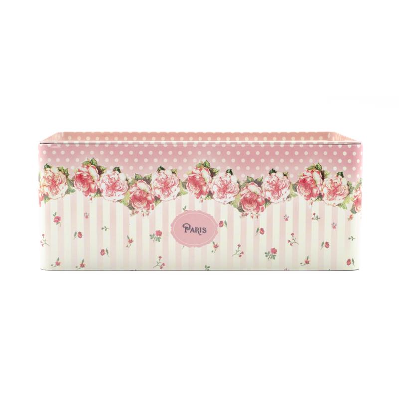Pöttyös-rózsás zsebkendőtartó