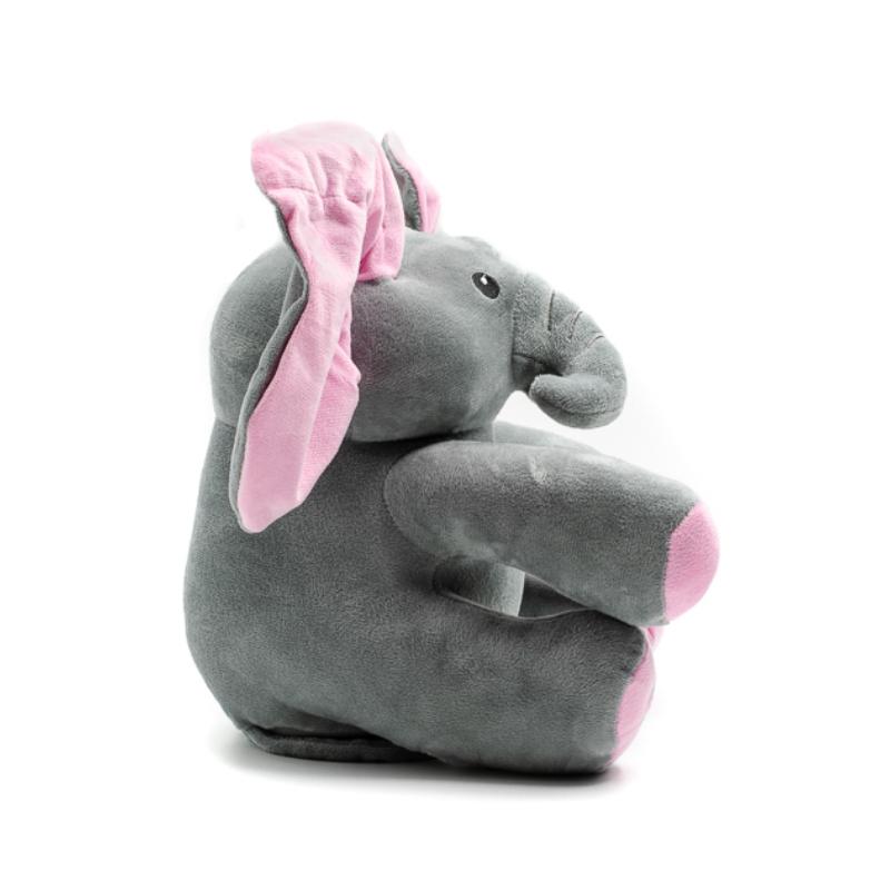Cuki elefánt mozgó rózsaszín fülekkel