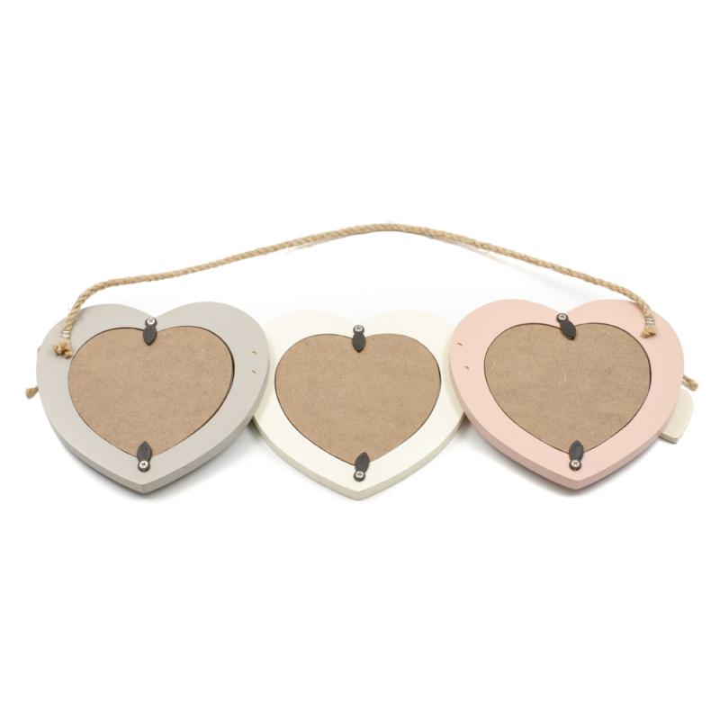 3 szív fali képkeret