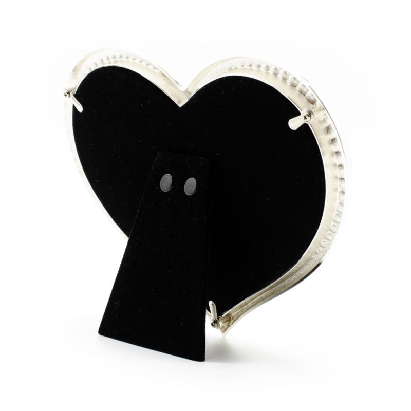 Szív alakú köves képkeret