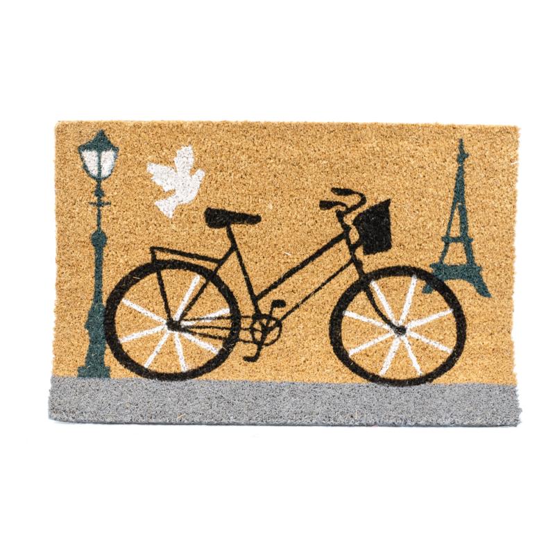 Kókuszrost lábtörlő biciklivel, Eiffel-toronnyal