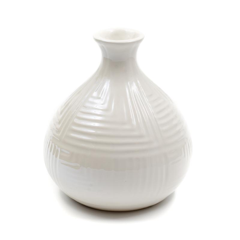 Bézs gyöngyházfényű váza