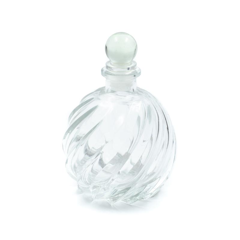 Gömbölyű parfümös üveg