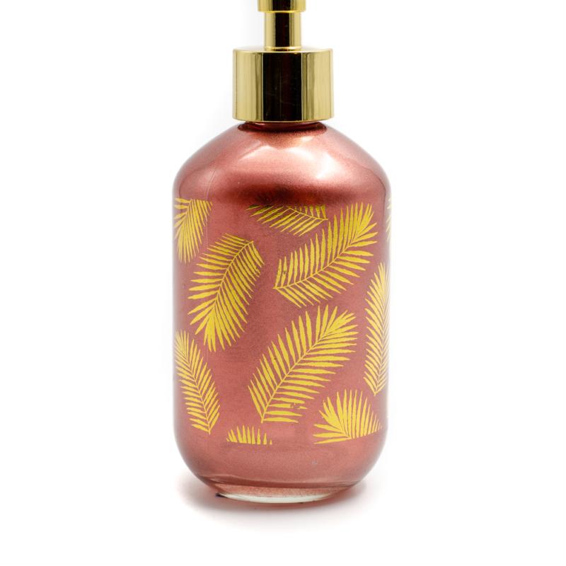 Rózsaszín folyékony szappanadagoló
