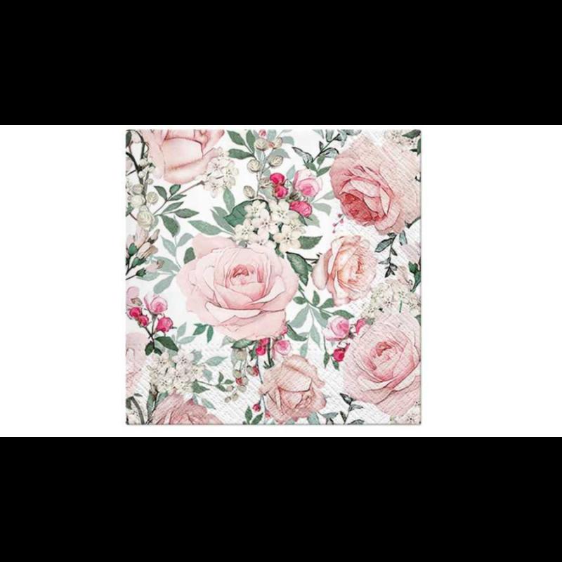 Rózsaszín rózsák jázminnal