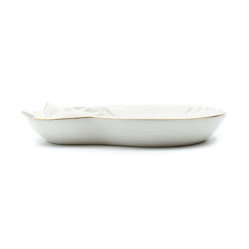 Bagoly formájú porcelán kínálótál