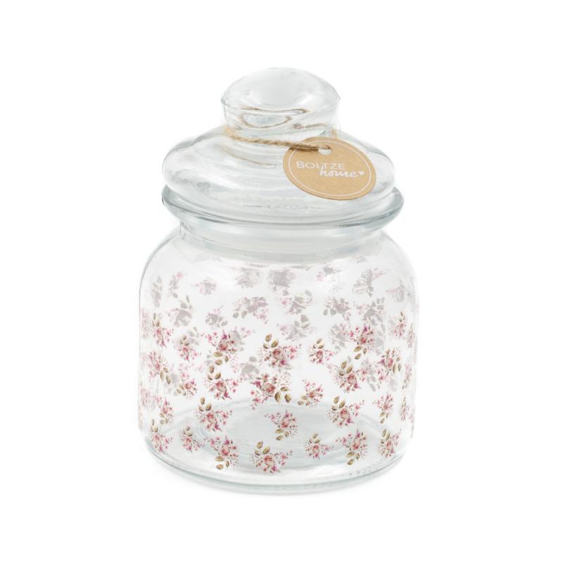 Apró rózsás aromazáró üveg tároló