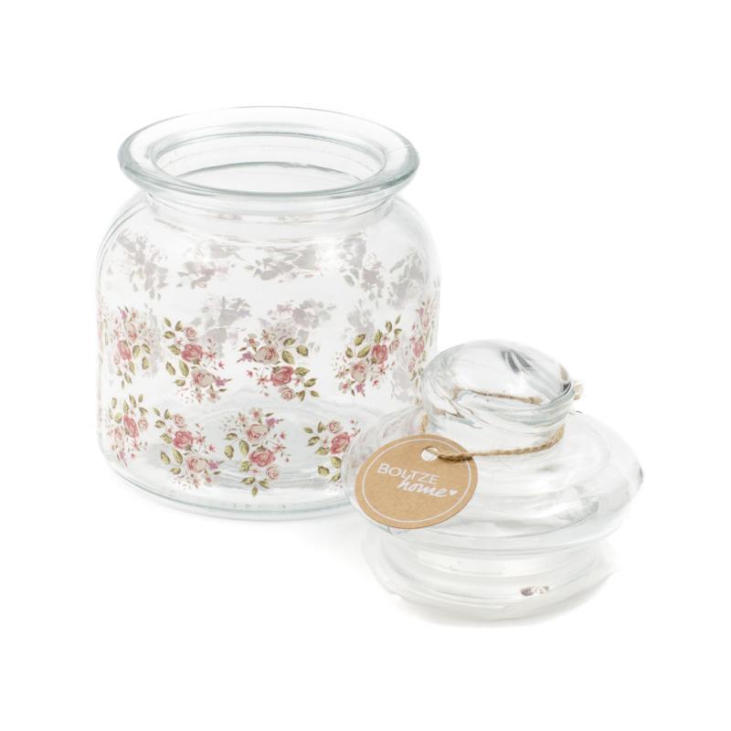 Rózsás aromazáró üveg tároló