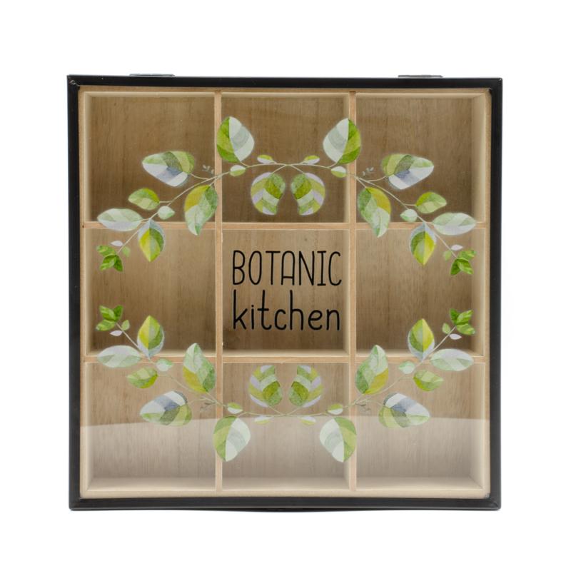 Botanic fekete keretes teafilter tartó